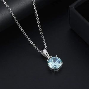 S925 March (Aquamarine) birthstone necklace